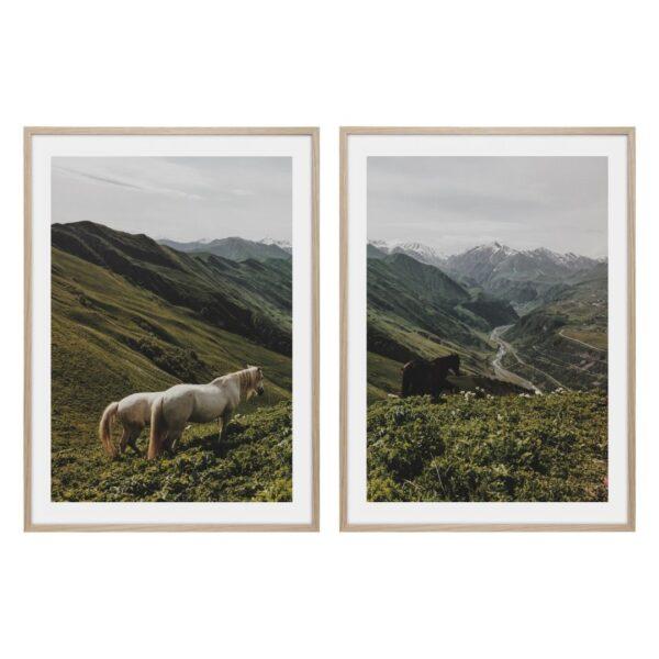 Hästposter uppe i bergen
