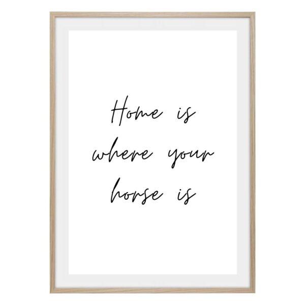 Poster med häst citat